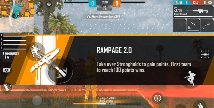 مود Rampage 2.0 Mode در بازی فری فایر free fire