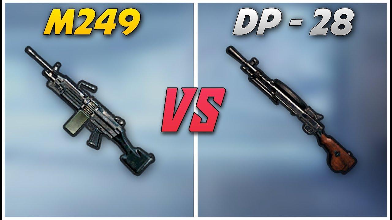 مقایسه سلاح های M249 و DP-28 در بازی پابجی موبایلر