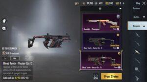 اسکین سلاح های SMG بازی پابجی موبایل