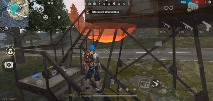 ترفندها و تکنیک های استفاده از Tower Sniper در بازی فری فایر