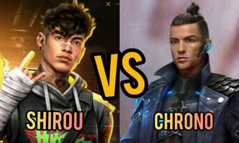 مقایسه کاراکتر Shirou و Chrono در بازی فری فایر
