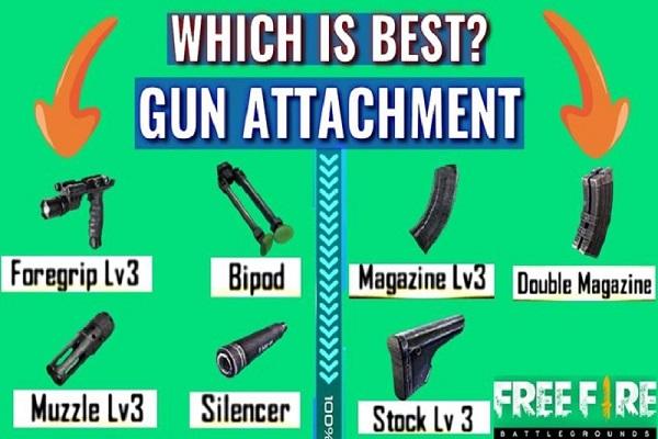 کنترل recoil اسلحه در بازی فری فایر و کاهش اسنایپر با استفاده از سه ضمیمه سلاح