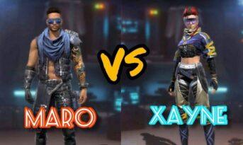 مقایسه کاراکتر Xayne و Maro در بازی فری فایر