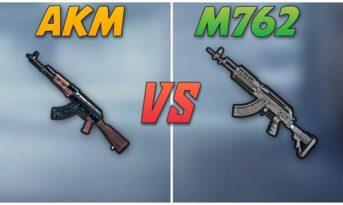 مقایسه اسلحه AKM و M762 در بازی پابجی موبایل
