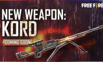 اسلحه جدید Kord در بازی فری فایر