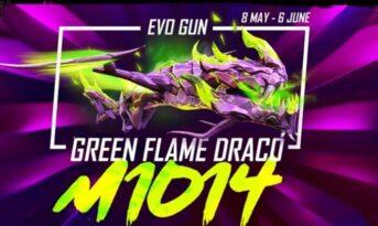 اموزش گرفتن اسکین Green Flame Draco در بازی فری فایر