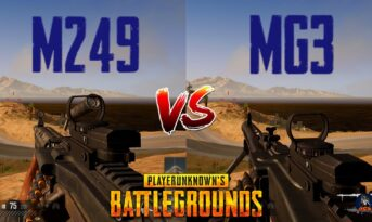 مقایسه اسلحه MG3 و M249 در بازی پابجی موبایل